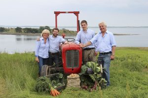 Hamilton Family with tractor by Strangford Lough